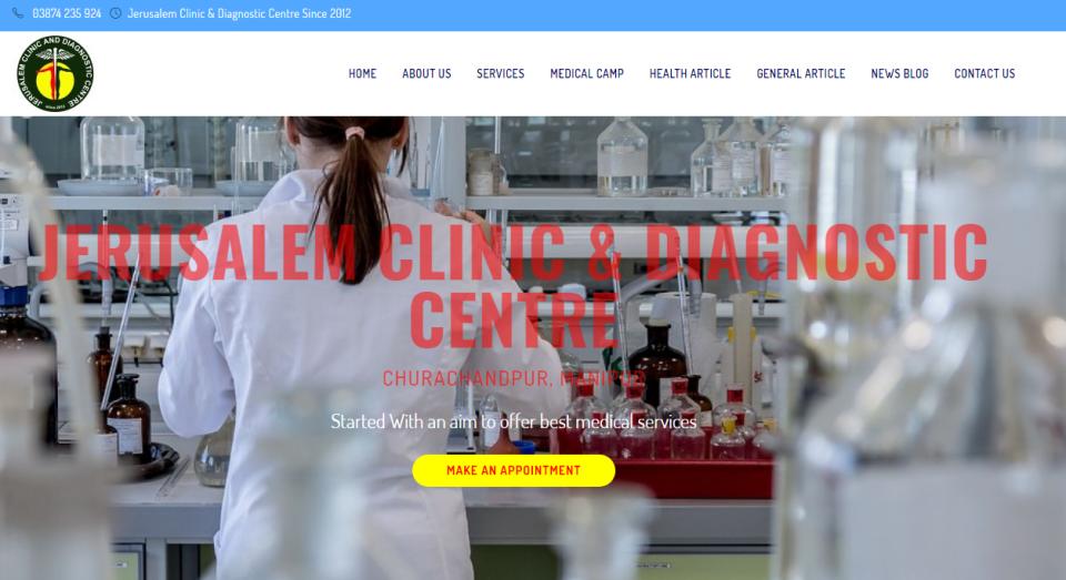 Jerusalem Clinic & Diagnostic Centre Clinic & Medical Laboratory Website